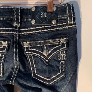 Miss Me Signature Boot Dark Blue Jeans JS5014B110V
